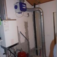 Nieuw situatie na het verwijderen van de warmtepompboiler